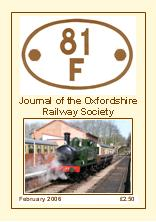 81F, Journal of the Oxfordshire Railway Society front cover 2006