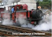 ORS Member Mark Horseman Photograph of the steam engine David Lloyd-George at Porthmadoc